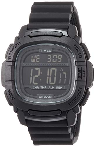 Timex Command(TM) TW5M26100 Sportuhr, Silikon, Quarzuhrwerk, 47 mm, Schwarz