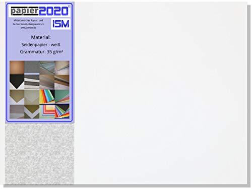 Papier 2020 1 kg, ca. 724 Stück Seidenpapier, Transparentpapier; weiß; 35 g/qm; 148 x 210 mm
