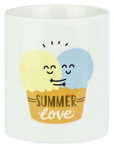 Mr; Wonderful Wom00180 Taza Summer Love, Blanco, 10X10X10 (Set De 2)