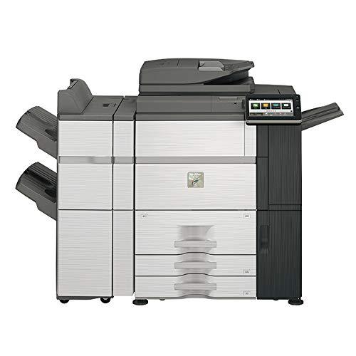 Sharp MX-7580N Color Laser Multifunction Printer - 75ppm, Copy, Print, Scan, 4K Stacking 50-Sheet Staple Finisher, Auto Duplex, Network, 2400 DPI, 13x19 Media, 2 Trays, High Capacity Tandem Tray