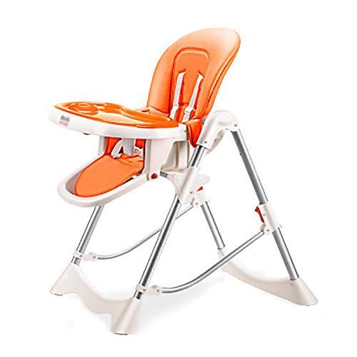 Chaise De Salle À Manger Portative pour Bébé avec Chaises Pliantes pour Bébé (Orange Et Rose Et Beige)