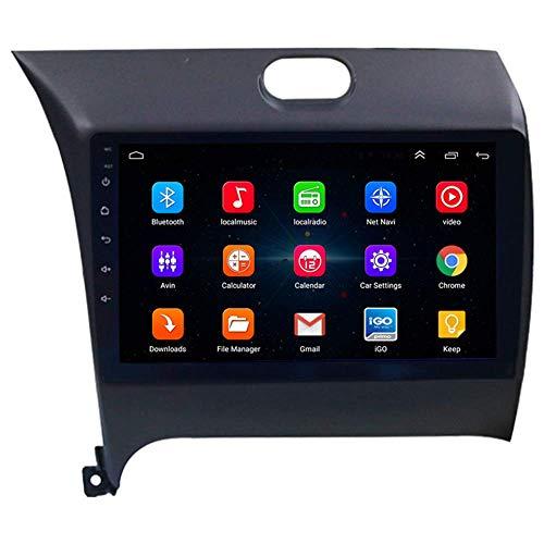 Android 9.1 Car Sat Nav In-Dash Video With9inches Pantalla Táctil Para Kia K3 2013-2016 Entretenimiento GPS Navegador MultimediaRadio, WiFi/BT Conexión Internet, Soporte Bluetooth64G SD