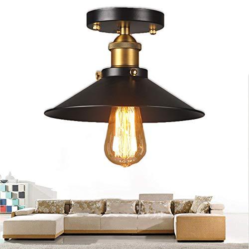 Plafoniera da soffitto in metallo vintage da incasso a soffitto vintage retrò lampadario Lampada a...
