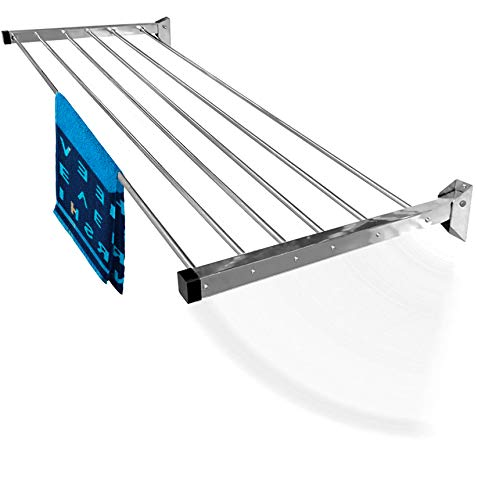SYNERGY - (6 Pipe x 5 Feet) - Heavy Duty Stainless Steel Foldable Wall Mounted Cloth Dryer/Clothes Drying Stand [SY-GL14]
