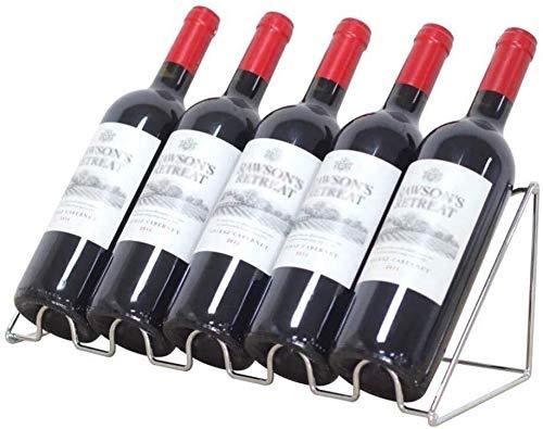 HJXSXHZ366 Estante de vino montado en la pared Estante de vino de hierro para vino creativo salón estilo minimalista botella de metal 5 botellas pequeñas (tamaño: 5 botellas)