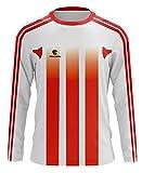 Triumph Men's Goalkeeper Jersey T Shirts Youth Soccer Goalie Shirt Long Sleeve White Red Size 2XL