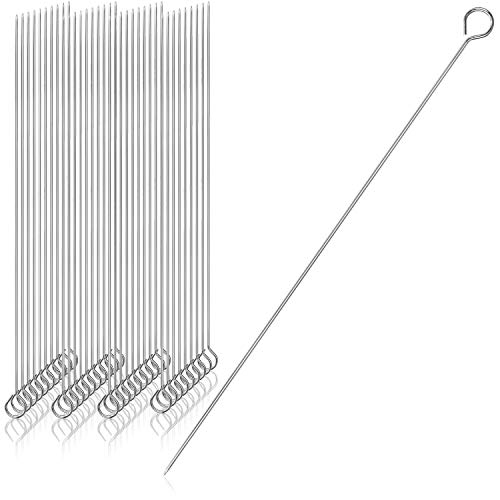 COM-FOUR® 40x Schaschlik- und Grillspieße, Spieße aus verzinktem Stahl - für Grill, Ofen, BBQ - perfekte Fleisch-, Fisch- und Gemüsespieße