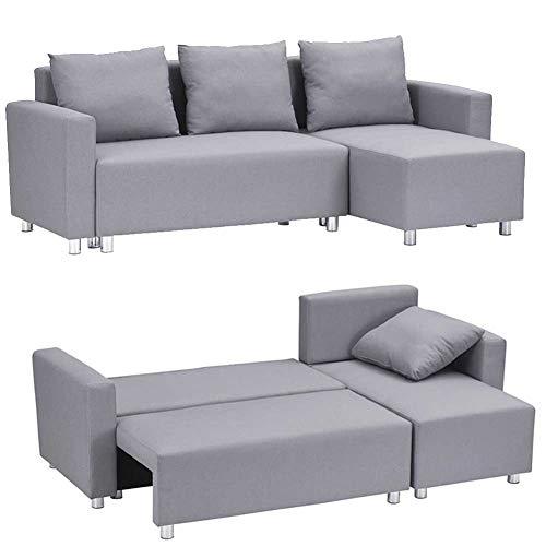 RJMOLU Sofá Convertible Sofá Cama - Modern Futon Sofá Cama - Sofá Perezoso protegable Sofá Cama con Patas de Metal para Muebles de Sala de Estar