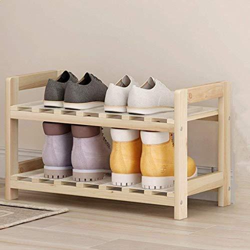Estante de zapatos Zapatero de almacenamiento de madera del zapato Bastidores Organizador de zapatos Estante, Ideal for pasillo, baño, sala de estar, dormitorios y pasillo Bandeja de almacenamiento