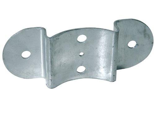 Zaun-Riegelbeschlag , feuerverzinkt für Pfosten und Halbrund-Zaunriegel Ø100mm