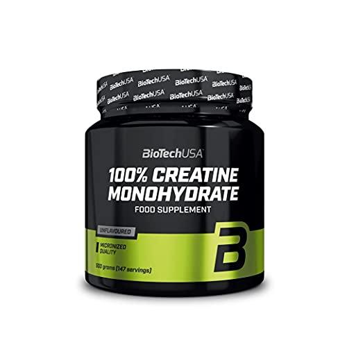 BioTechUSA 100% Creatine Monohydrate Complemento alimenticio en polvo sin sabor a base de monohidrato de creatina micronizado, 500 g