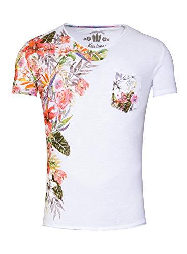 KEY LARGO Herren Babylon v-Neck T-Shirt, White (1000), M