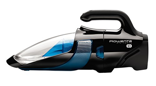 Rowenta AC9255 Delta Force Bagless Cordless Handheld Vacuum Cleaner with Long-Lasting Lithium Battery, 18V, Blue