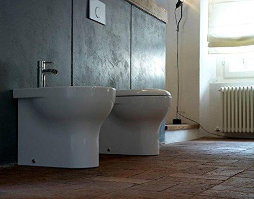Sanitari Filoparete Ceramica Globo Grace WC + BIDET + SEDILE