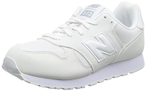 New Balance KJ373AWY M - Zapatillas Unisex Niños, Blanco (White), 28 EU