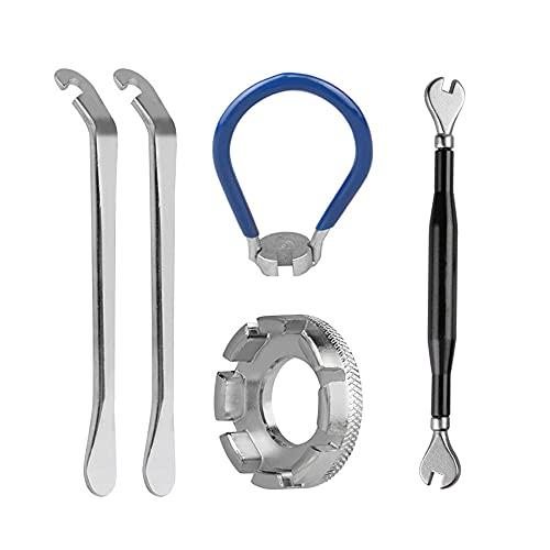 CJBIN Speichenschlüssel, Fahrrad Speichenschlüssel Fahrrad Metall Nippelspanner für Alle Gängigen Fahrrad und Mofaspeichen Fahrrad Reparieren Speichen Werkzeuge