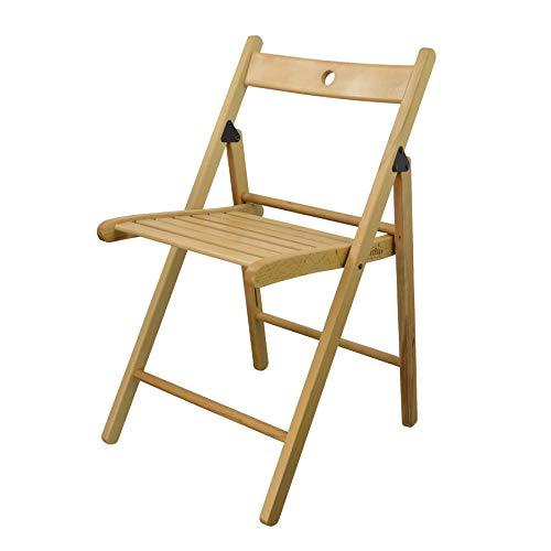 Klappbare Holzstühle - natürliche Holzfarbe - 4er-Set