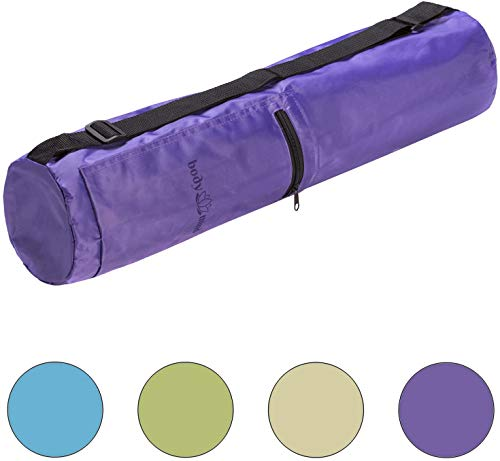 Body & Mind Yoga Bag - Borsa Yoga Premium per materassini Yoga Fino a 190x65cm; Borsa Yoga in 4 Colori; Viola