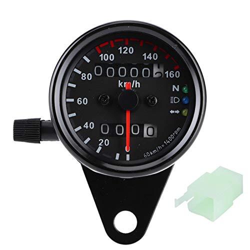 Odómetro de motocicleta, 1pc Universal Motocicleta Odómetro Velocímetro Indicador Señal Pantalla digital dual KM/H(Negro)