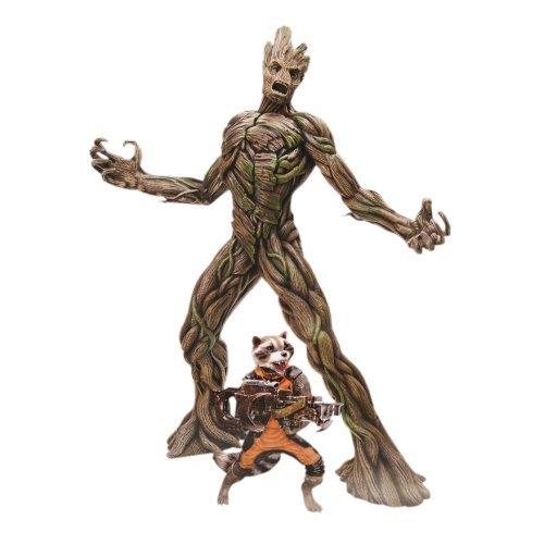 Dragon Models - Dm38131 - Figurine Cinéma - Rocket Racoon Et Groot - Action Vignette - Echelle 1/9