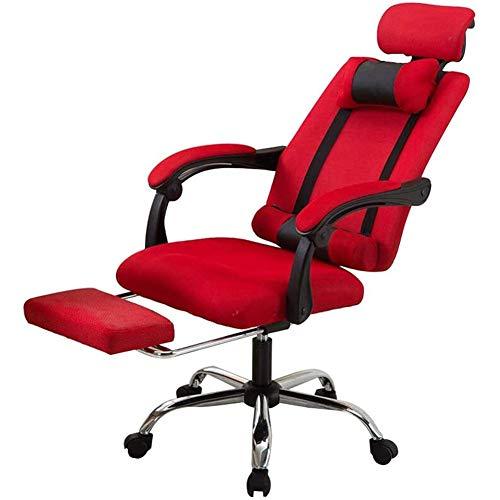 GzxLaY Liegender Computerstuhl Home Computerstuhl Mesh Büro mit Rollstuhl, Geeignet für Schlafzimmer Hotel E-Sports Hall, Boss Stuhl,B