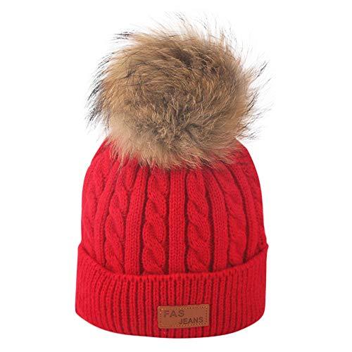 DAY8 Bonnet Bébé Fille Hiver Pompom Enfants Garçon Chapeaux Tricotés Bonnet Bébé Fille Unisexe Garçon 2-8 Ans Automne Hat