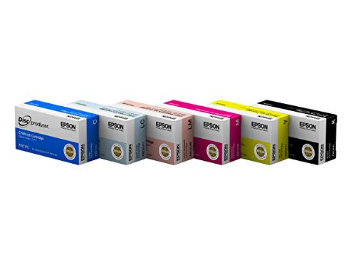 Epson DiscProducer PP-100 Ink Cartridge 6 Color Set in Retail Packaging