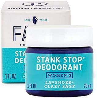 FATCO Stank Stop Natural Deodorant, Cream in a Jar, 1 oz (Lavender + Clary Sage)