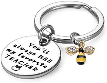 Teacher Gifts You ll Always Bee My Favorite Teacher Keychain Thank You Gifts Color C product image