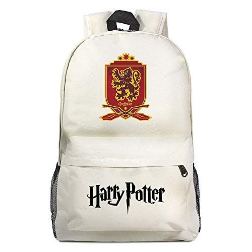GXB Filles Sacs d'école Harry Pt Sac à Dos Ultra Light Waterproof Notebook Bag Boys Leisure Randonnée Rucksack L Blanc 9