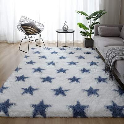 Alfombras suaves para interiores grandes y modernas, con diseño de peludas, para sala de estar, decoración del hogar, alfombra negra, enrejado de 9,160 cm x 250 cm