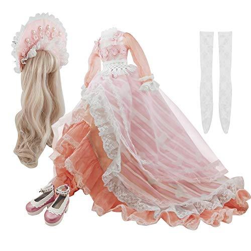 EVA BJD Full Set Dolls' Clothes Wigs Shoes Socks Just for 23inch 1/3 60cm BJD Doll Fairy Princess Dress up (Olina Set)