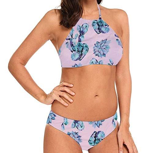 Bikini Fabuloso Mujeres Body Bikini de Traje de baño de Cintura Alta Dinosaurio de impresión Traje de baño Traje de baño de la Playa sin Defectos de Las Mujeres Traje de baño (Color : G, Size : M)
