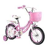 BAOMEI Bicicletas Bicicleta al Aire Libre for niños, por 4-13 años, niños y niñas, niños, Bicicleta de montaña, Rosa. (Size : 16in)