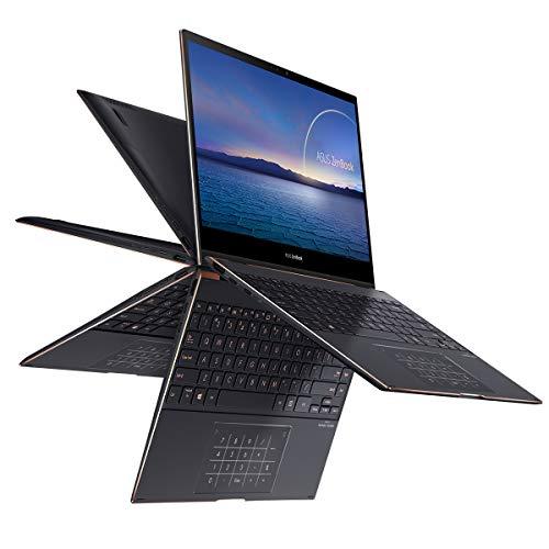 ASUS ZenBook Flip S 13 UX371EA-HL049T - Portátil de 13.3 ' 4K UHD (Intel Core i7-1165G7, 16GB RAM, 1TB SSD, Intel Iris Xe Graphics, Windows 10 Home) Jade Negro - Teclado QWERTY español