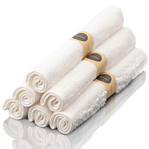 Panteer ® 6 Bambus Putztücher mit optimierter Faserstruktur und erhöhte Mikro-Oberfläche (extra starke Saugkraft) - Geeignet als Küchentücher, Geschirrhandtücher und Spüllappen - für Küche, Bad, Auto