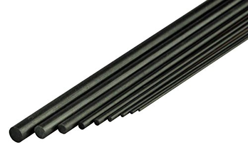 YUKI MODEL Karbonstab 3mm x 1m / Carbon Fibre Rod 709055