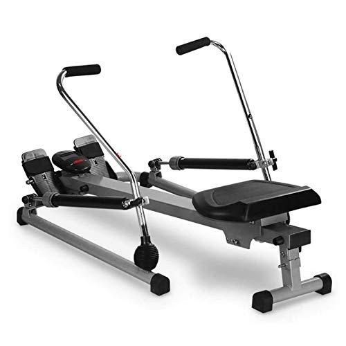 WSCQ Máquina de Remo Fitness para Uso Interior, Banco Remo Plegable Multifunción 2021 Versión Mejorada Ajuste de Doble Resistencia para Entrenamiento Cardiovascular