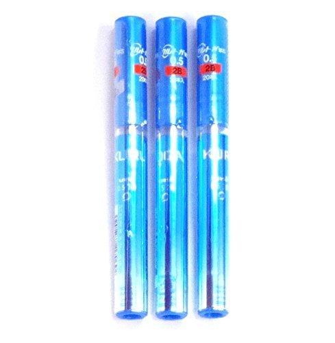Uni Kuru Toga Pencil Lead, 0.5 mm 2B, Blue Case, 20 Leads X 3 Pack/total 60 Leads (Japan Import) [Komainu-Dou Original Package] by Mitsubishi Pencil Co., Ltd.