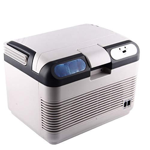 YSYW Frigorifero per Auto, Frigorifero per Auto 12 V Car Cooler Warmer 12L Frigorifero Portatile Portable Travel Cooler Box,White