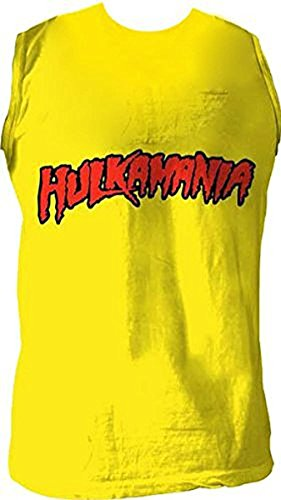 Hulk Hogan 'hulkamania' Sleeveless T-shirt Gold [Apparel] Size: Large