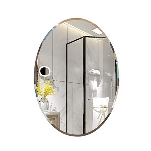 YANSW Espejo Espejo de Pared Ovalado Biselado Espejo de...