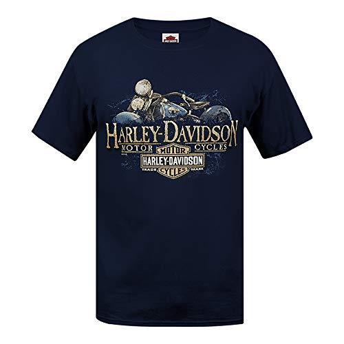 HARLEY-DAVIDSON® Old Blue T-Shirt and Warr's London Wrecking Crew Back (Medium)