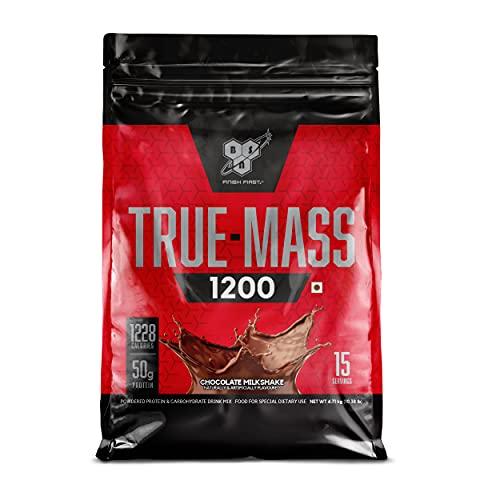 BSN TRUE-MASS Weight Gainer, Muscle Mass Gainer Protein Powder, Chocolate Milkshake, 10.38 Pound