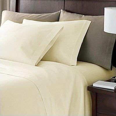 Linens Limited Kissenbezug mit Umschlag 100% Ägypt. Baumwolle FZ 200 King - Creme, 50 x 90 cm