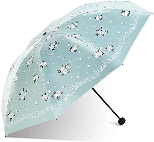 Top-Qualität Regenschirm Umberllas Folding Umbrella Sonnenschirm UV Cut Regen Prevention Leichte 7 Knochen Durable Origami Regenschirm Frauen (Farbe: Rosa, Größe: Free) Wind und UV-Schutz