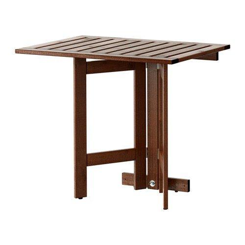 IKEA ÄPPLARÖ klaptafel voor buiten; van massief acacia; (80x56cm)