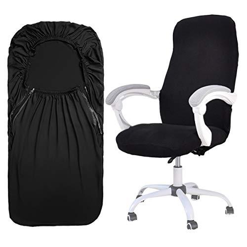 ANSUG Bezug für Bürostuhl, Stretch Computerstuhl Stuhlbezüge Abnehmbarer waschbarer Drehstuhlschutz Universal Sessel Schonbezug für Office-Schwarz, S
