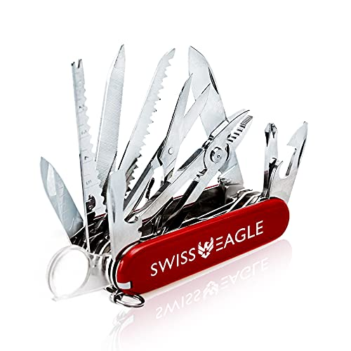 Swiss Eagle Multi-Tool Army Knife - Packs 30 Tools In Your Pocket