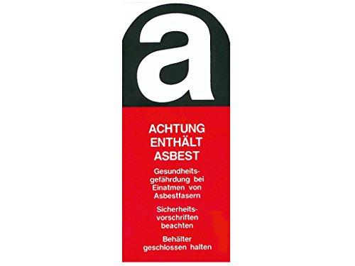 """Warn-Aufkleber """"Achtung enthält Asbest."""" - 5 x 10cm - 20er Pack von ASUP"""